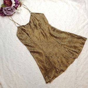 Vintage Victoria's Secret Silk Snake Print Slip